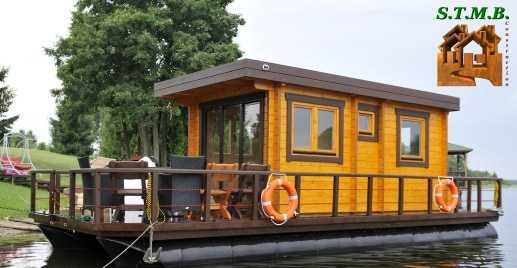 Photo cabane bois insolite sur l eau stmb