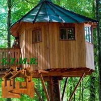 Photo cabane dans les arbres bois insolite stmb