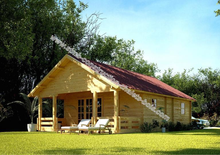 Chalet bois habitable vendu en kit valence de 92 m2 for Cabanon en bois habitable