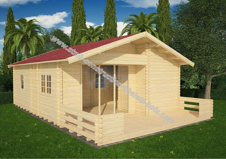 Vente de chalet bois en kit stmb construction chalets bois - Chalet en kit habitable ...