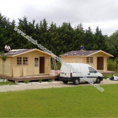 kit chalet en bois habitable de loisirs laurier 20 de 20 m stmb construction. Black Bedroom Furniture Sets. Home Design Ideas