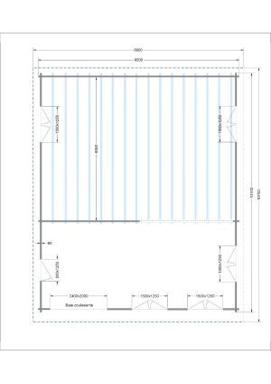 Plan chalet bois habitable 1