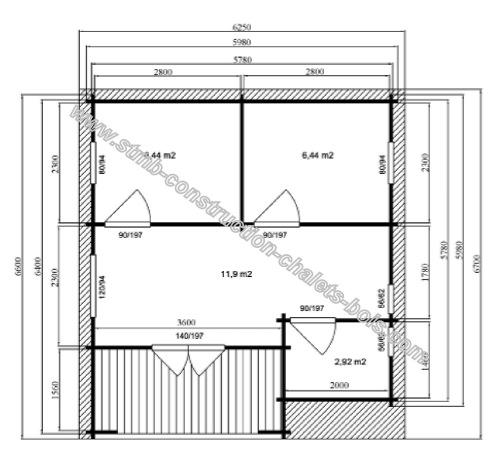 chalet r sidentiel en kit haut de gamme un prix abordable. Black Bedroom Furniture Sets. Home Design Ideas