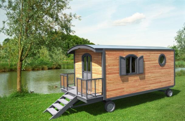 nos roulottes en ossature bois enti rement isol es. Black Bedroom Furniture Sets. Home Design Ideas
