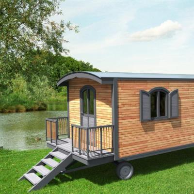 roulotte en bois pour jardin. Black Bedroom Furniture Sets. Home Design Ideas