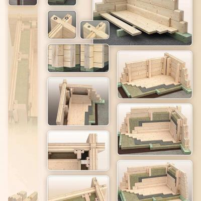 Structure bois isolation murs sol 1