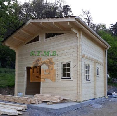 1 maison de jardin en bois avec mezzanine stmb construction