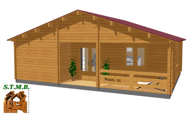 3d chalet bois habitable dax stmb construction