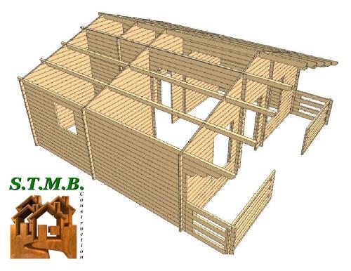 3d chalet en bois poitiers stmb construction