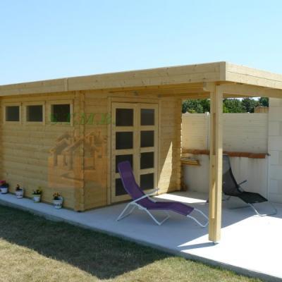 Abri de jardin toit plat abri de jardin en bois abri bois cabanon de jardin ailante 17 m2