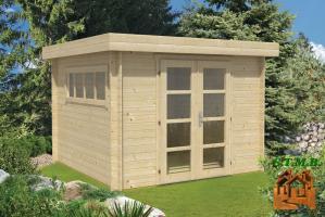 Abris en bois toit plat de jardin stmb construction