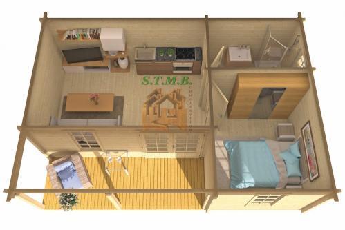 le chalet en bois de jardin comme investissement locatif stmb. Black Bedroom Furniture Sets. Home Design Ideas