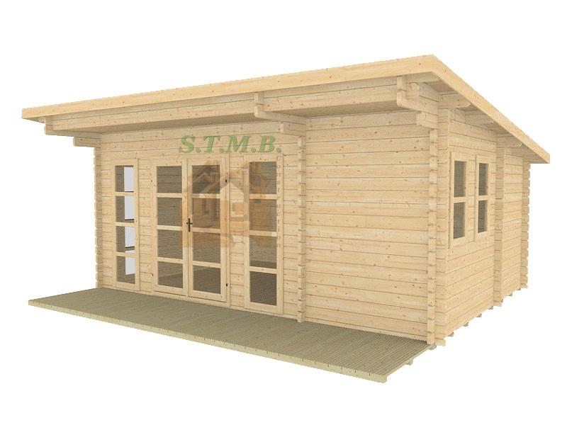 Chalet ou bureau de jardin en bois mod u00e8le SYDNI MINI 19 STMB Construction # Preau En Bois Permis De Construire