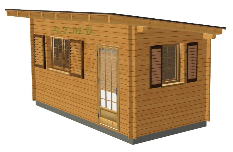 Abri de jardin ou bureau en bois modèle pau monopan