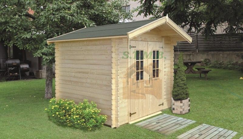 kit abri de jardin en madriers de 28 mm livr gratuitement. Black Bedroom Furniture Sets. Home Design Ideas