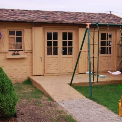 Cabane en bois chalet de jardin chalet en bois chalet en bois 20m2 chalet bois habitable sans permis de construire