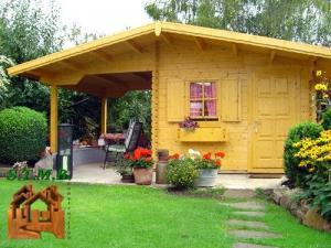 Chalet bois jardin stmb construction