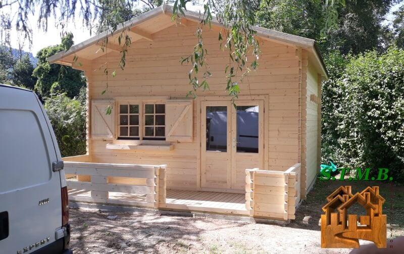Chalet bois mezzanine sans permis stmb construction