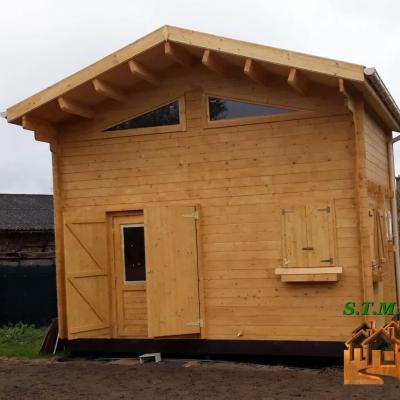 Chalet bois mezzanine stmb construction 1