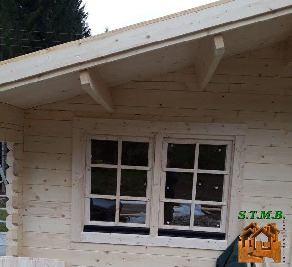 Chalet bois sans permis construire lilas stmb construction