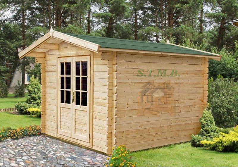 Chalet de jardin bois en madriers de 34 mm mod le colza 5 for Petit chalet en bois pas cher
