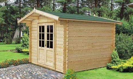 Chalet de jardin bois mod le colza 7 5 m en madriers de 34 mm for Cabane de jardin en kit pas cher