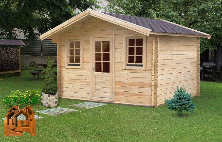 Un chalet en bois vendu en kit livr directement domicile for Entretien jardin cholet