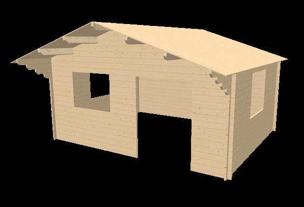Chalet en bois 20m stmb construction