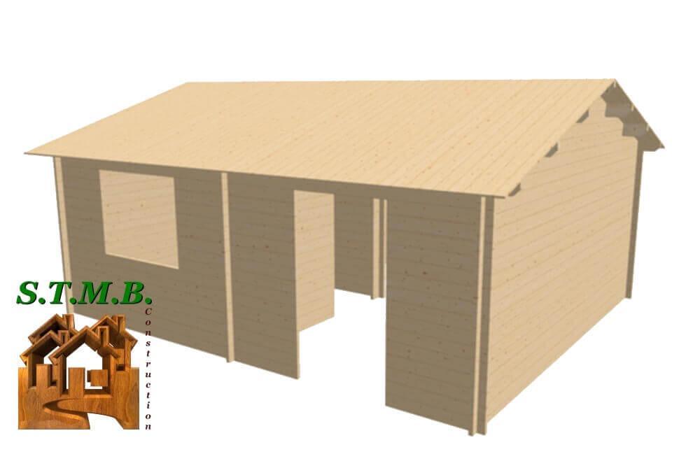 Chalet en bois 30m stmb construction 1