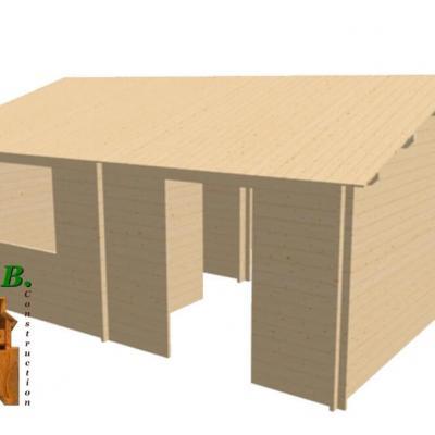 Chalet en bois 30m stmb construction