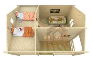Chalet en bois avec mezzanine stmb construction 2