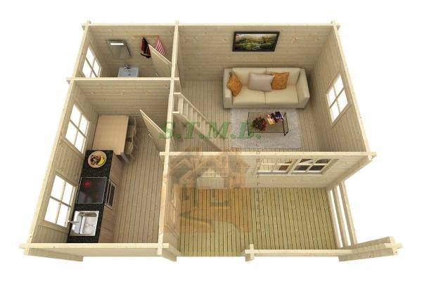 Infos sur les maisons bois en kit construction chalets bois for Chalet en bois avec mezzanine