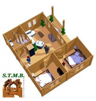 Chalet en bois bordeaux 42 stmb construction photo 4