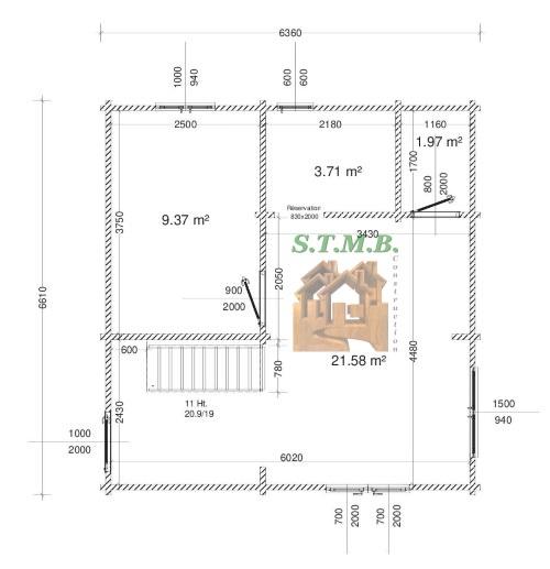 Chalet en bois habitable mezzanine riom rdc 84m 1