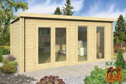 Chalet en bois habitable toit plat stmb construction