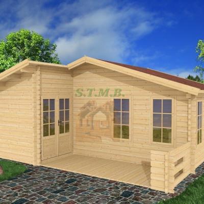 Chalet en bois maisonette sur mesure fabriquant chalet en kit chalet de jardin merisier 33m2