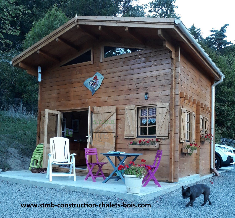 Chalet en bois mezzanine sans permis de construire
