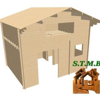 Chalet en bois mezzanine sans permis stmb construction