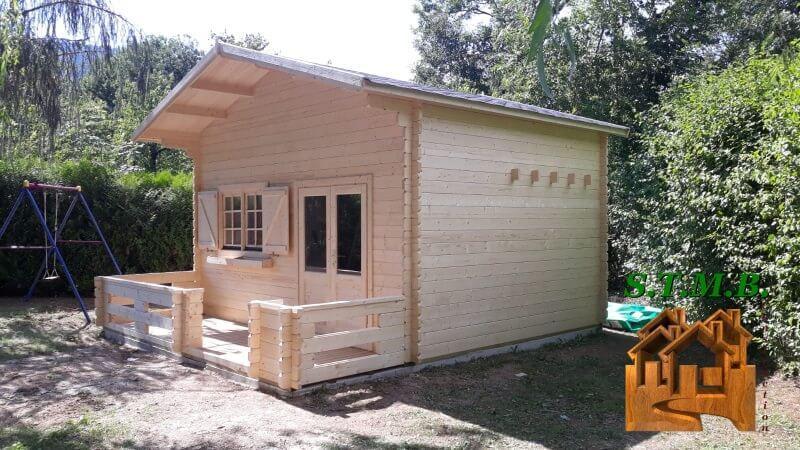 Chalet en bois mezzanine stmb construction 3