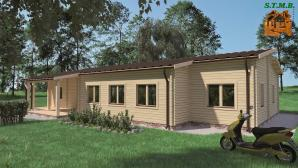 Chalet habitable en bois stmb construction