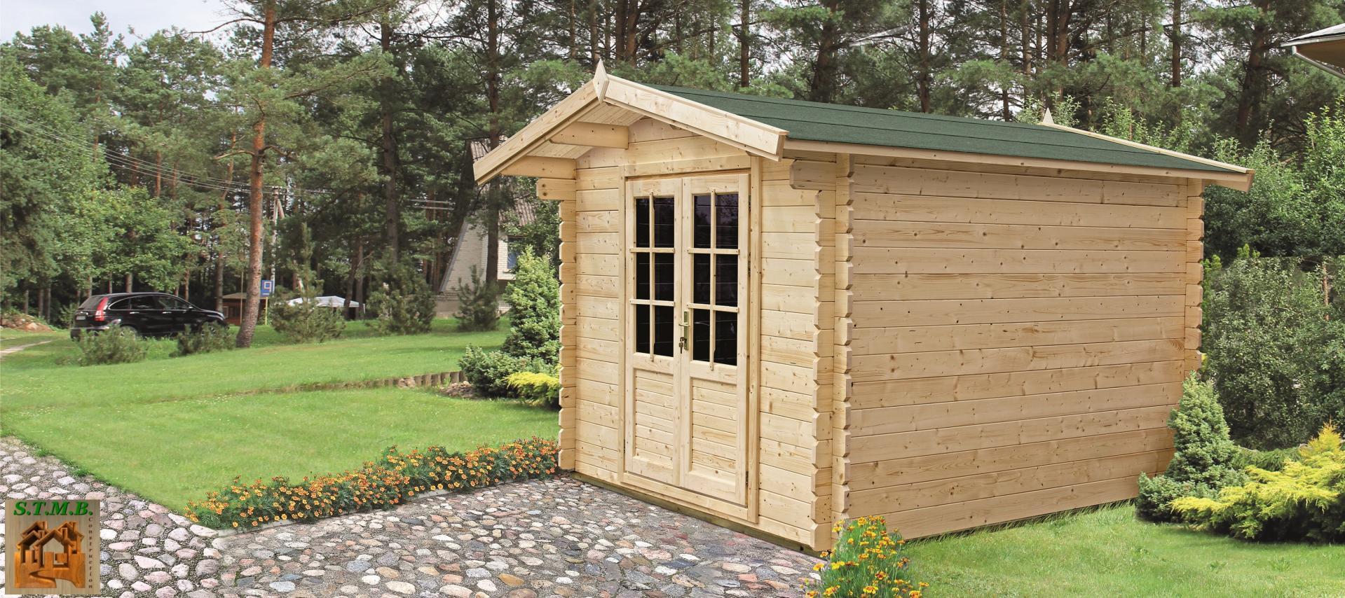 Chalet de jardin en bois chalet jardin 34 mm for Chalet jardin en bois
