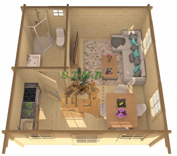 Le chalet en bois devient plus fonctionnel pour tous les for Camping le bois joli la chambre