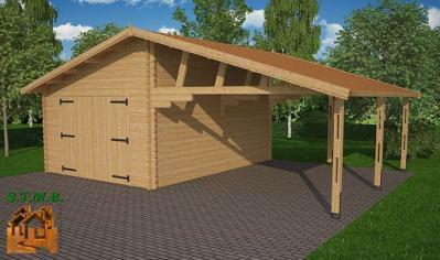 Garage abri voiture carport en bois stmb construction