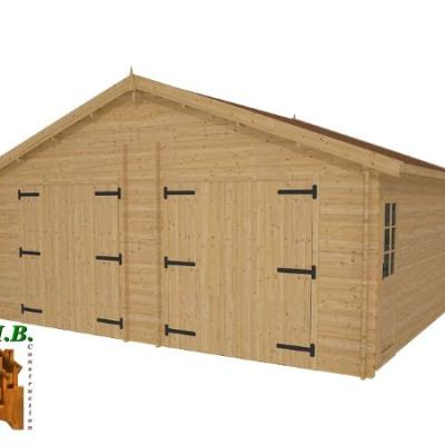 Garage en bois twix stmb construction