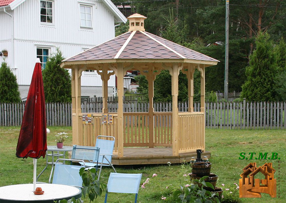 gloriette en bois pour une touche d co romantique stmb construction. Black Bedroom Furniture Sets. Home Design Ideas