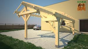 Installer une pergola en bois stmb construction