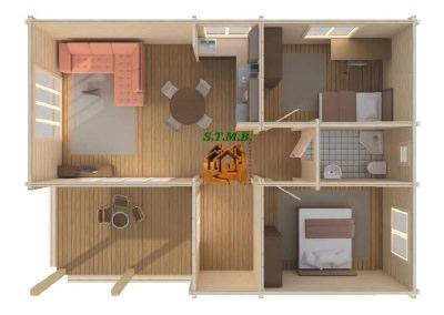 Int chalet en bois habitable maison bois stmb construction