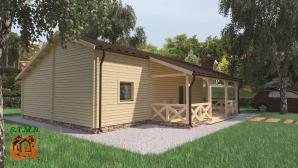 Kit chalet en bois habitable stmb construction