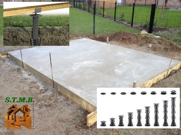 Les fondations chalet en bois abri de jardin stmb construction 1