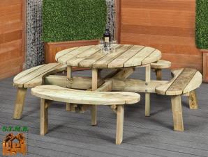 Les salons de jardins en bois stmb construction